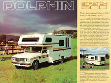 1979 1980 Toyota Dolphin Motorhome Camper 1-page Original Sales Brochure Card