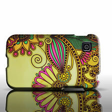 Hard Cover Protector Case for LG Optimus Dynamic II 2 - Gold Antique Flower