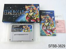 Complete Star Ocean Super Famicom Japanese Import CIB Boxed SFC US Seller B