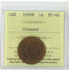 Canada 1898H 1 Cent EF-40 Cleaned XNE 876