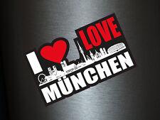 1 x Aufkleber I Love München Skyline Sticker Autoaufkleber Tuning Stickerbomb