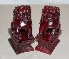 NEW PAIR (2) CHINESE ORIENTAL FOO DOGS IMPERIAL LIONS FUNG SHUI STATUE FIGURE 4""