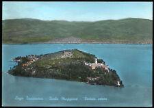 cartolina ISOLA MAGGIORE lago trasimeno-veduta aerea