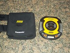 Panasonic SL-SW505 SHOCK WAVE Portable CD Player Walkman Carrier Included TESTED