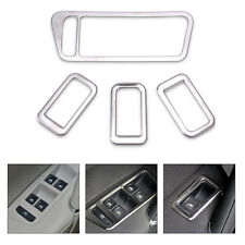 4Pcs Chrome Interior Door Handle Window Switch Cover Trim For VW Golf Mk7 2014