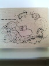 """House Mouse by Stampendous """"Chamomile Nap"""" WM Rubber Stamp"""