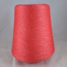 Cariaggi Cashmere Silk Lurex Yarn Cone Lot Coral Lace Cobweb Machine Knit Weave