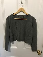Country Road Grey Wool Crop Cardigan Size Medium RRP $119.95