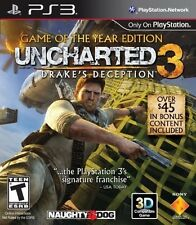 NEW Uncharted 3 Drake's Deception Game of the Year GotY PS3 Sony Playstation 3