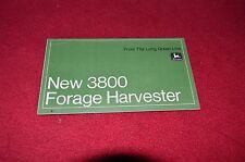 John Deere 3800 Forage Harvester Dealers Brochure LCOH