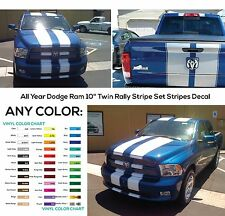 "All Year Dodge Ram 10"" Twin Rally Stripe Set Stripes Decal Decals Graphics NEW"