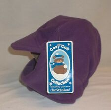 One Step Ahead Purple Fleece Winter Hat Velcro Closure 24mo-4T BRAND NEW!