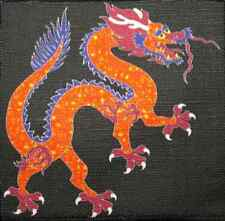 COLORED CHINESE DRAGON - Printed Patch - Sew On - Vest, Backpack, Jacket, Hat