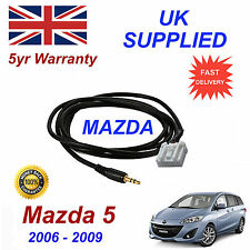 Mazda 5 AUX 3.5mm Input Audio cable High Quality Sound model year 06-09