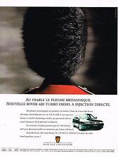 PUBLICITE ADVERTISING 104  1994   ROVER 620 TURBO DIESEL à injéction directe