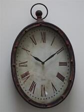 Reloj De Pared Oval industrial de estilo vintage y retro buscando Reloj de Estilo Rústico