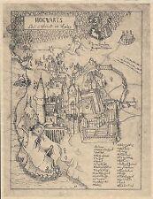 Harry Potter Hogwarts School Of Witchcraft & Wizardry Map   Flyer Prop/Replica