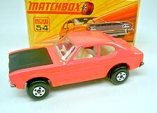 Matchbox SF Nr. 54B Ford Capri pink schwarze Motorhaube in Box