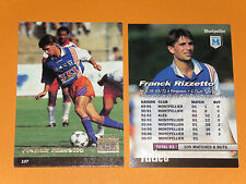 FRANCK RIZZETTO SC MONTPELLIER PAILLADE MOSSON FOOTBALL CARD PANINI 1996-1997