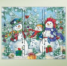 Byers' Choice Wooden Advent Calendar Holz Adventkalender - Snowman Family