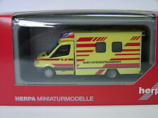 "Mercedes-Benz Sprinter Fahrtec Baby-Intensivtransport "" Herpa 091565 H0 1:87 Neu"