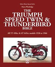 Triumph Speed Twin Thunderbird Bible All5T 498cc 6T 649cc 1938 to 66  book paper