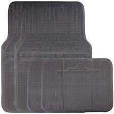 4 Piece Universal Fit Black Rubber Reliant Front & Rear Car Mats Non Slip Floor