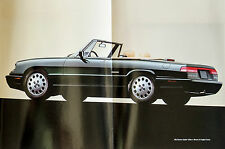 1992 Alfa Romeo Spider Veloce & 164 Sales Brochure with LARGE FOLDOUTS