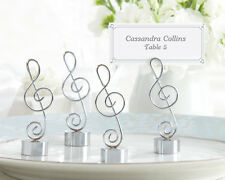 24 Music Note Wedding Place Card Photo Holders Favors