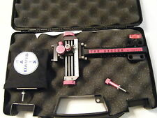 "4"" DAVIS SIGHT--black with pink knobs- LEFT HAND."