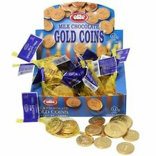 8 Small Bags of CHANUKAH GELT.. Milk Chocolate Gold Coins........ Kosher Judaica