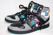 PONY Men's 12M Neff City Wings Hi Palms Sneakers MB002BWX Blue Black Pink