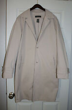 BANANA REPUBLIC JACKET. Men's Lined Cotton  Trench coat. Color:Beige  New!