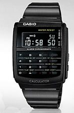 New Latest Casio Retro Vintage Databank Black Stainless Steel Watch CA-506B-1A