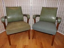 Pair of Mid Century Arm Chairs Walnut Milwaukee Chair Co Very Comfortable Sturdy