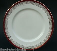 Royal Grafton Red Majestic Pattern Lg Size Dinner Plates 27.5cm Dia All in VGC