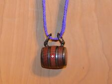 Puppy St. Bernard Wooden Barrel Keg With A Purple Strap And A  Swiss Cross