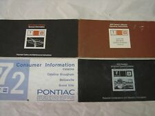 1972 Pontiac Owners Manual + Full Glove Box Used Free Shipping