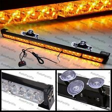 "25"" in LED Amber Bar Emergency Truck Strobe Flash Light Warning Truck Dash"