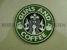 GUNS AND COFFEE VELCRO FABRIC PATCH - Tactical Morale Airsoft Badge