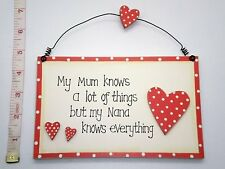 Nana Knows Everything Plaque Sign Christmas Gift Ideas for her Grandparents