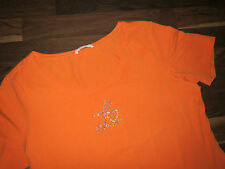 Laurel T-Shirt Top T-Shirt Gr.46 Orange mit Straß NEUWERTIG