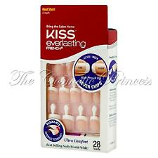 KISS Everlasting French Flexi-Fit Glue On Nails, 53237 -Real Short with Tabs!