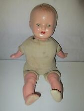 Vintage Antique Composition Doll with Teeth Sleep Eyes condition issues