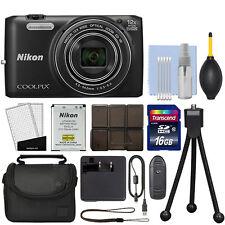 Nikon COOLPIX S6800 16MP Digital Camera 12x Optical Zoom Full-HD Black+ 16GB Kit