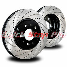NIS030R 370Z G37 Sport Rear Performance Brake Rotor 09-14 Drill + Curve Slots