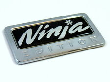 Ninja Edition Chrome Emblem with domed decal Car Auto motorcycle bike Badge