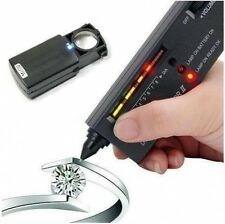 JEWELLERS DIAMOND GEMSTONE TESTER + 30X21 LED LOUPE LOOP FOR SCRAP GOLD & SILVER