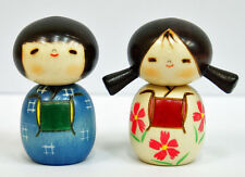 Usaburo Kokeshi Japanese Wooden Doll 5-10 Best Friends Boy & Girl