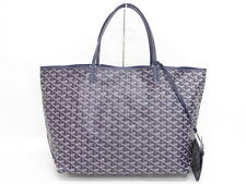 Auth GOYARD Saint Louis GM Hand Tote Shoulder Bag Navy France 02130304200 L01G